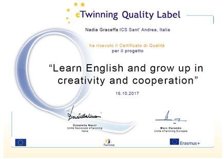etwinning quality label 2017