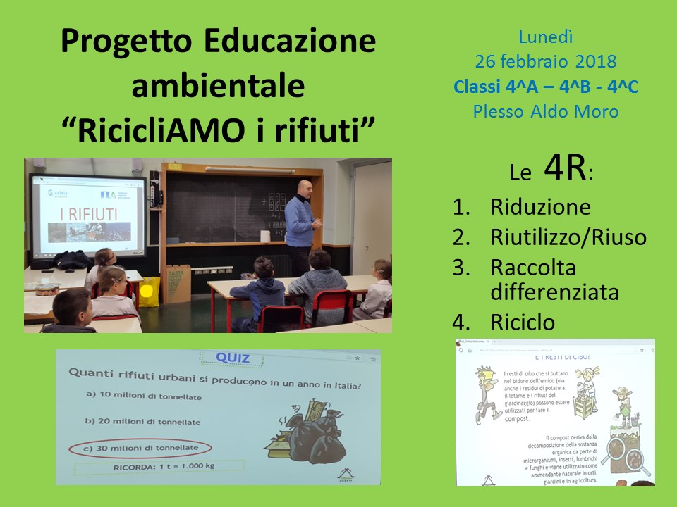 Progetto RicicliAMO i rifiuti